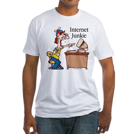 """Internet Junkie"" #2 Fitted T-Shirt"