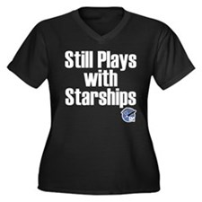 Still Plays With Starships Women's Plus Size V-Nec