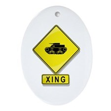Tank XING Oval Ornament