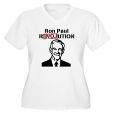 Ron Paul REVOLUTION Plus Size V-Neck T-Shirt