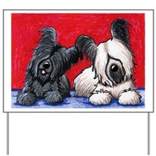 SKYE TERRIER DUO Yard & Garden Art