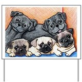 PUG PARTY Yard & Garden Art