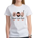 Peace Love Golf Golfing Women's T-Shirt