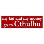 My Kid and My Money Spoof Sticker