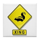 Skunk XING Tile Coaster