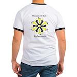 Reflexology Yellow & Black Ringer T