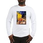 Cafe /Pekingese (r) Long Sleeve T-Shirt
