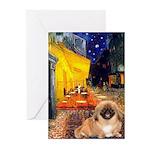 Cafe /Pekingese (r) Greeting Cards (Pk of 20)