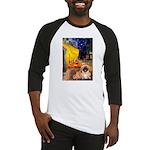 Cafe /Pekingese (r) Baseball Jersey