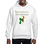 Gaelic Text & Map of Ireland Hooded Sweatshirt