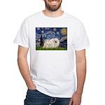 Starry / Pekingese(w) White T-Shirt