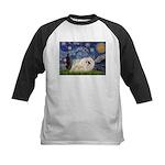 Starry / Pekingese(w) Kids Baseball Jersey