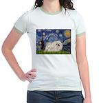 Starry / Pekingese(w) Jr. Ringer T-Shirt