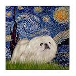 Starry / Pekingese(w) Tile Coaster