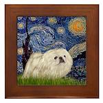 Starry / Pekingese(w) Framed Tile