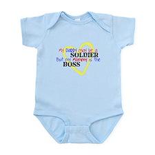 Daddy SOLDIER Mommy Boss Onesie