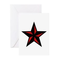 Redblack Star Greeting Card
