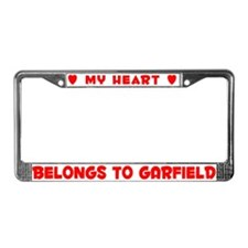 Heart Belongs to Garfield - License Plate Frame