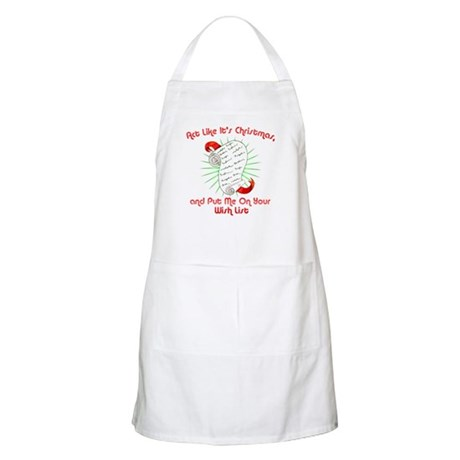 Act Like It's Christmas BBQ Apron