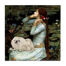 Ophelia /Pekingese(w) Tile Coaster