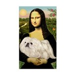 Mona /Pekingese (w) Sticker (Rectangle)