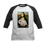 Mona /Pekingese (w) Kids Baseball Jersey