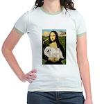 Mona /Pekingese (w) Jr. Ringer T-Shirt