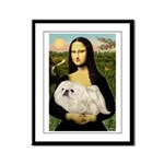 Mona /Pekingese (w) Framed Panel Print