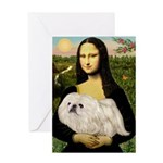 Mona /Pekingese (w) Greeting Card