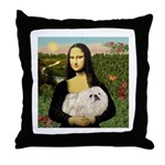 Mona /Pekingese (w) Throw Pillow