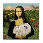 Mona /Pekingese (w) Tile Coaster