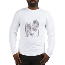 3 Horses By Ashley Long Sleeve T-Shirt