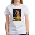 Fairies / Pekingese(r&w) Women's T-Shirt