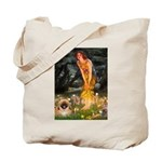Fairies / Pekingese(r&w) Tote Bag