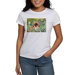 Irises / Pekingese(r&w) Women's T-Shirt