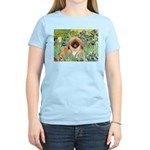 Irises / Pekingese(r&w) Women's Light T-Shirt
