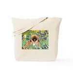 Irises / Pekingese(r&w) Tote Bag