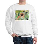 Irises / Pekingese(r&w) Sweatshirt
