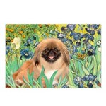 Irises / Pekingese(r&w) Postcards (Package of 8)