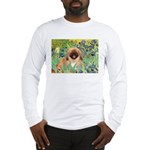 Irises / Pekingese(r&w) Long Sleeve T-Shirt