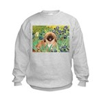 Irises / Pekingese(r&w) Kids Sweatshirt