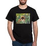 Irises / Pekingese(r&w) Dark T-Shirt
