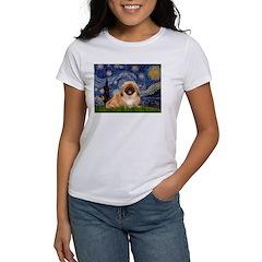 Starry / Pekingese(r&w) Women's T-Shirt