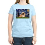 Starry / Pekingese(r&w) Women's Light T-Shirt