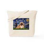 Starry / Pekingese(r&w) Tote Bag