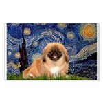 Starry / Pekingese(r&w) Sticker (Rectangle)