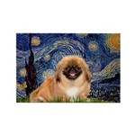 Starry / Pekingese(r&w) Rectangle Magnet (10 pack)