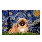 Starry / Pekingese(r&w) Postcards (Package of 8)