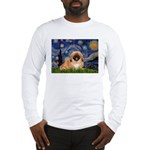 Starry / Pekingese(r&w) Long Sleeve T-Shirt