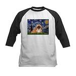 Starry / Pekingese(r&w) Kids Baseball Jersey